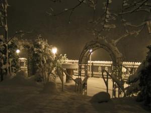 Der Biergarten im Winter